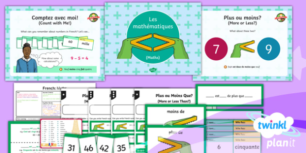 French: Let's Visit a French Town: Maths Year 6 Lesson Pack 4