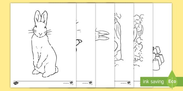 The Tale Of Peter Rabbit Coloring Sheets (teacher Made)