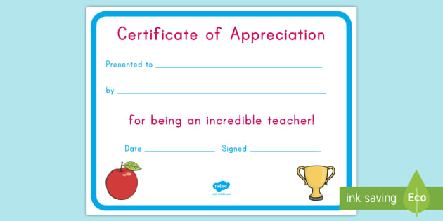 us-t-2546926-teacher-appreciation-certificate_ver_2 Teacher Appreciation Letter Template For Kindergarten on luncheon flyer, student note, weekly schedule, sign up sheet, luncheon invitation, 2nd grade, night invite, note card, letter 4th grade, superhero theme word, for notes,
