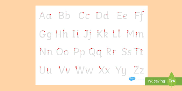 Letter Formation Alphabet Handwriting Sheet Uppercase and ...