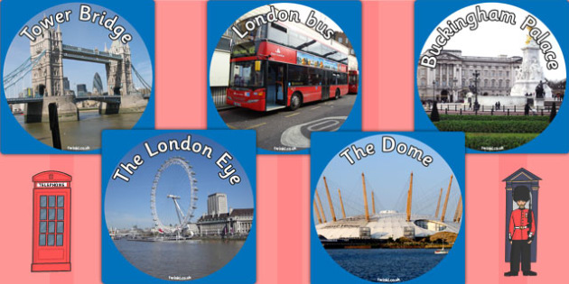 London Display Photo Cut Outs - london, britain, photo, cut outs