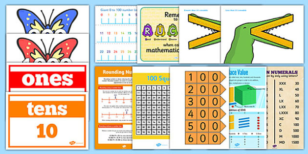 photo relating to Place Value Strips Printable named Range and Destination Great importance Demonstrate Pack LKS2