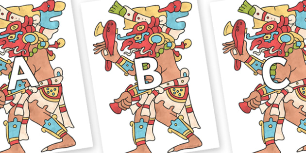 A-Z Alphabet on Chaak - A-Z, A4, display, Alphabet frieze, Display letters, Letter posters, A-Z letters, Alphabet flashcards