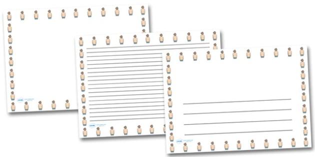 Back Landscape Page Borders- Landscape Page Borders - Page border, border, writing template, writing aid, writing frame, a4 border, template, templates, landscape
