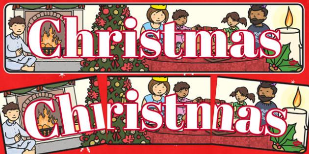 Christmas Display Banner (Christmas) - Christmas, xmas, display banner, Santa, Father Christmas, tree, advent, nativity, santa, father christmas, Jesus, tree, stocking, present, activity, cracker, angel, snowman, advent , bauble