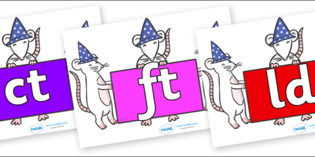 Final Letter Blends on Magic Mice - Final Letters, final letter, letter blend, letter blends, consonant, consonants, digraph, trigraph, literacy, alphabet, letters, foundation stage literacy