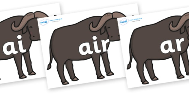 Phase 3 Phonemes on Buffalos - Phonemes, phoneme, Phase 3, Phase three, Foundation, Literacy, Letters and Sounds, DfES, display