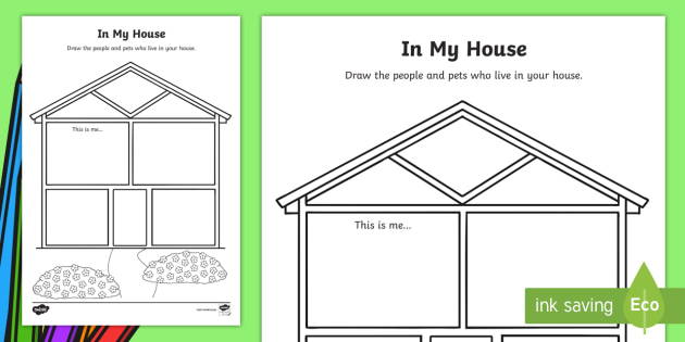Kindergarten In My House Worksheet / Worksheet