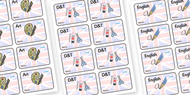 Great Britain Themed Editable Book Labels - Themed Book label, label, subject labels, exercise book, workbook labels, textbook labels