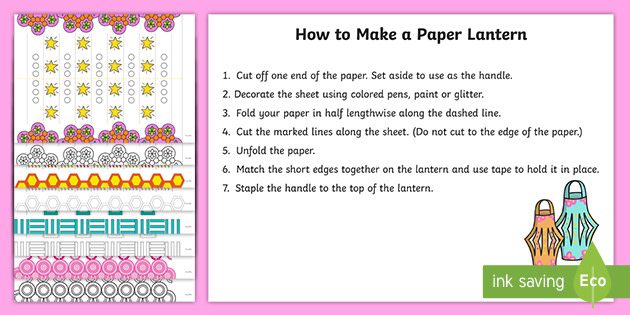 diwali paper lantern template  Diwali Paper Lantern Craft Templates (teacher made)