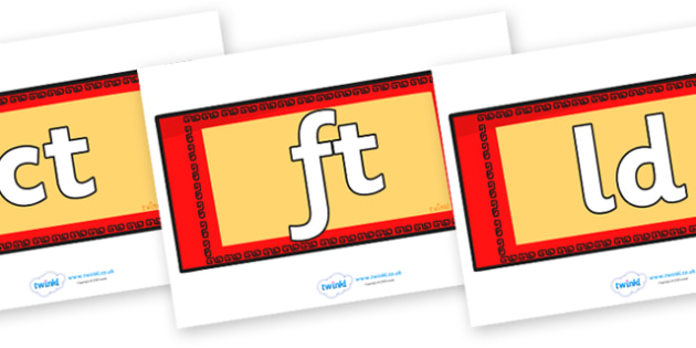 Final Letter Blends on Chinese Money Wallets - Final Letters, final letter, letter blend, letter blends, consonant, consonants, digraph, trigraph, literacy, alphabet, letters, foundation stage literacy