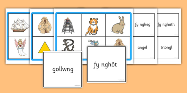 Welsh Ng Bingo Game - welsh, cymraeg, bingo, game, activity, ng