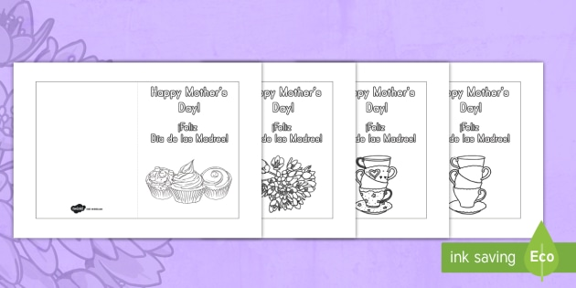 Mothers day card templates coloring us englishspanish mothers day card templates coloring us englishspanish latin mother maxwellsz