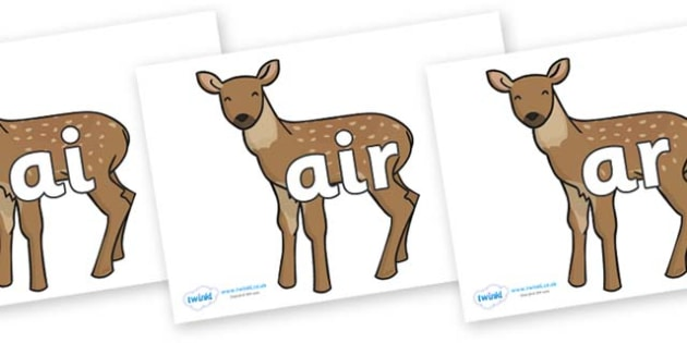 Phase 3 Phonemes on Fawns - Phonemes, phoneme, Phase 3, Phase three, Foundation, Literacy, Letters and Sounds, DfES, display