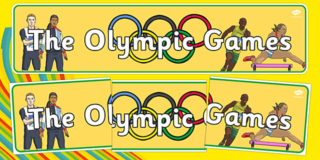 The Olympic Games Display Banner - Olympics, Olympic Games, sports, Olympic, London, 2012, display, banner, poster, sign, Olympic torch, flag, countries, medal, Olympic Rings, mascots, flame, compete, tennis, athlete, swimming, race,