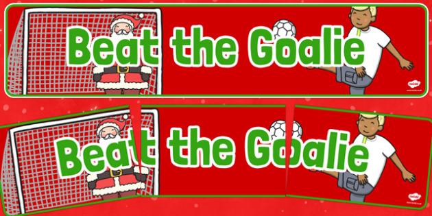 Christmas Themed Beat the Goalie Banner - christmas fair, display banner, display, banner, beat the goalie