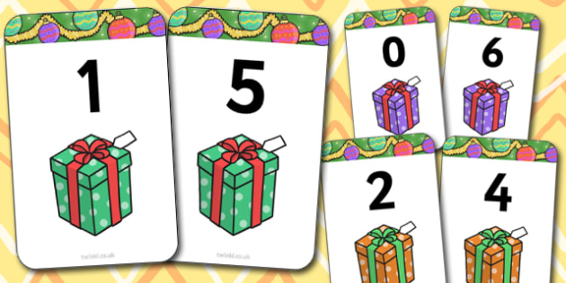 Number Bonds to 6 Present Matching Cards Activity - christmas