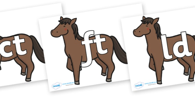 Final Letter Blends on Chinese New Year Horse - Final Letters, final letter, letter blend, letter blends, consonant, consonants, digraph, trigraph, literacy, alphabet, letters, foundation stage literacy