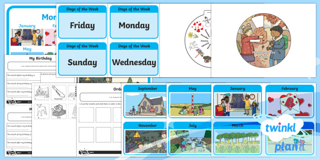 Months of the Year Activity Pack - Measurement, measures, language related to dates, months, months of the year, activity, activity pac