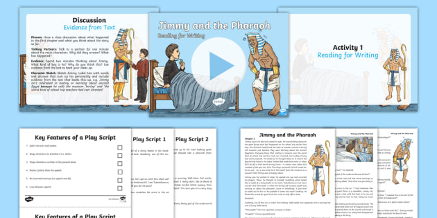 Jimmy and the Pharaoh: Reading for Writing Resource Pack - power