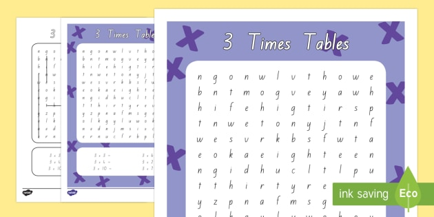Multiplication 3 times tables word search worksheet activity multiplication 3 times tables word search worksheet activity sheet new zealand maths ibookread Read Online
