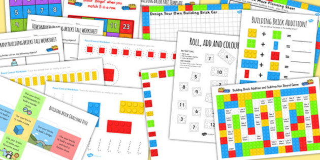 Building Brick Activity Pack - toys, games, activities