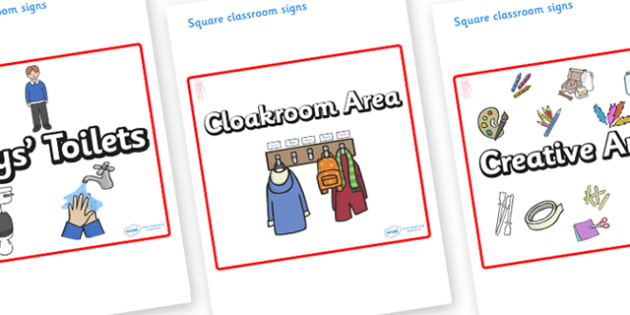 Jellyfish Themed Editable Square Classroom Area Signs (Plain) - Themed Classroom Area Signs, KS1, Banner, Foundation Stage Area Signs, Classroom labels, Area labels, Area Signs, Classroom Areas, Poster, Display, Areas