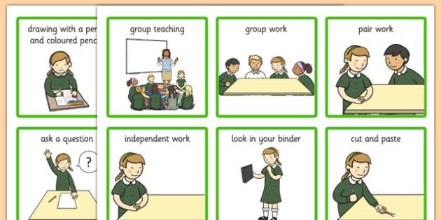 Classroom Visual Aid Cards Girl - classroom, visual aid, cards, visual, aid, visual aid cards