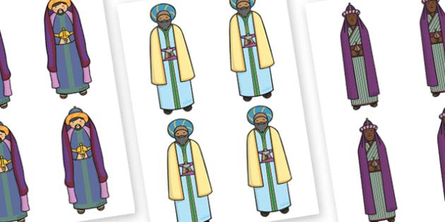 Editable Three Kings - Christmas, xmas, three kings, editable, tree, advent, nativity, santa, father christmas, Jesus, tree, stocking, present, activity, cracker, angel, snowman, advent , bauble
