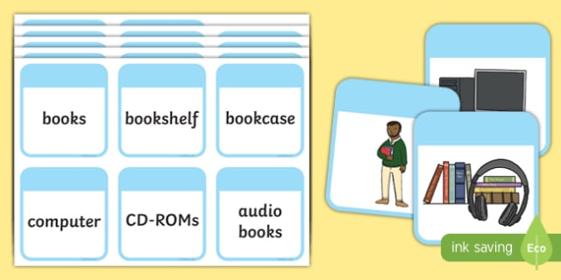 Library Role Play Word Matching Game - library, role play, word, matching, match, game, activity