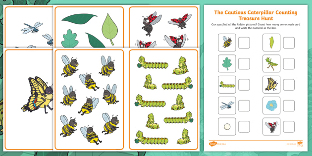 The Cautious Caterpillar Counting Treasure Hunt Activity
