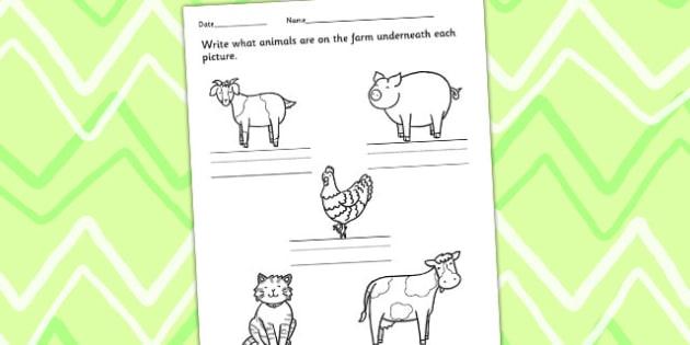 Animals on the Farm Worksheet - farm animals, animal activities