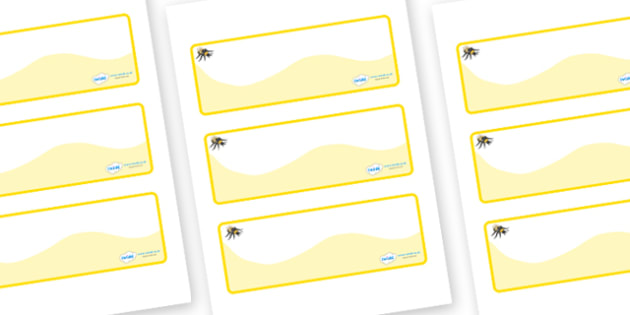 Bee Themed Editable Drawer-Peg-Name Labels (Colourful) - Themed Classroom Label Templates, Resource Labels, Name Labels, Editable Labels, Drawer Labels, Coat Peg Labels, Peg Label, KS1 Labels, Foundation Labels, Foundation Stage Labels, Teaching Labe