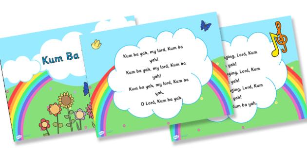 Kum Ba Yah Hymn Lyrics PowerPoint - kum ba yah, hymn, lyrics, hymn lyrics, powerpoint, music, lyrics powerpoint, hymn powerpoint, sing along powerpoint