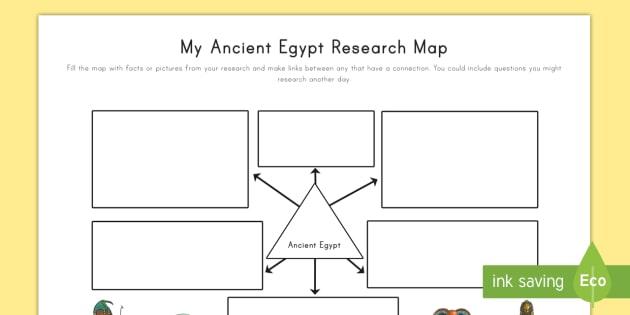 Ancient Egypt Research Map (teacher made)