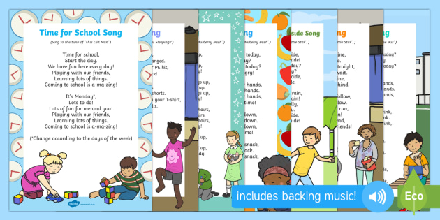 EYFS Daily Routine Songs and Rhymes Resource Pack