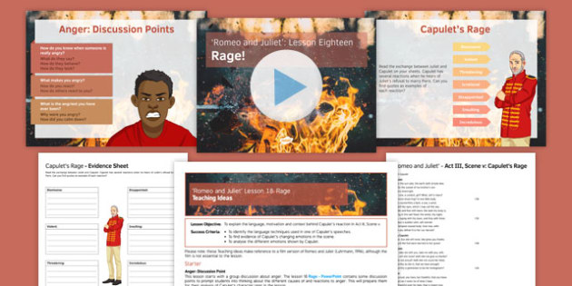 Romeo and Juliet Lesson Pack 18: Rage