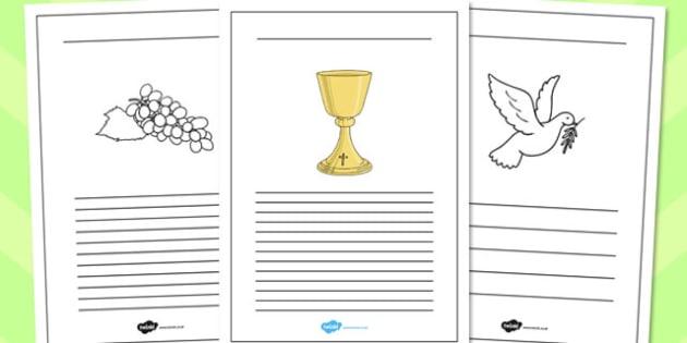 Confirmation Writing Frames - confirmation, writing frames, write
