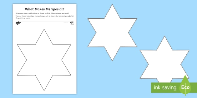 What Makes Me Special? Worksheet / Activity Sheet ...