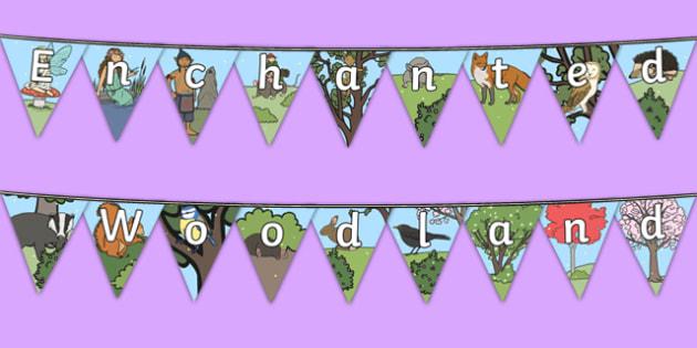 Enchanted Woodland Bunting - enchanted woodland, bunting, display