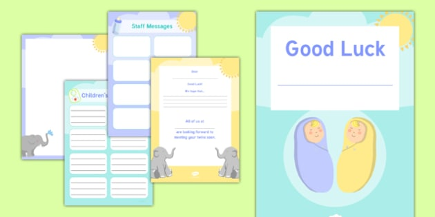 Maternity Leave   Twins Activity Booklet