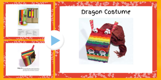 Dragon Costume Craft Instructions PowerPoint - dragon, costume, craft, instructions, powerpoint