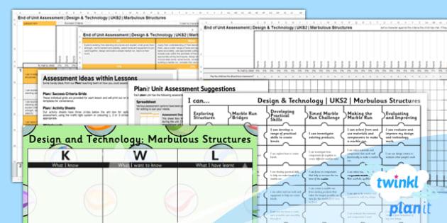 DT: Marbulous Structures UKS2 Unit Assessment Pack