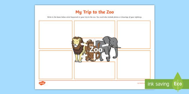 My Trip to the Zoo Worksheet - my trip, zoo, worksheet, trip