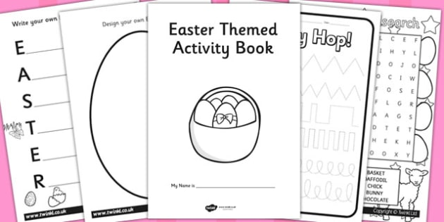 Easter Themed Activity Book - easter, activity, book, themed