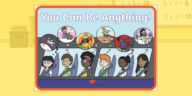Charlie the Firefighter: You Can Be Anything! Motivational Display Poster