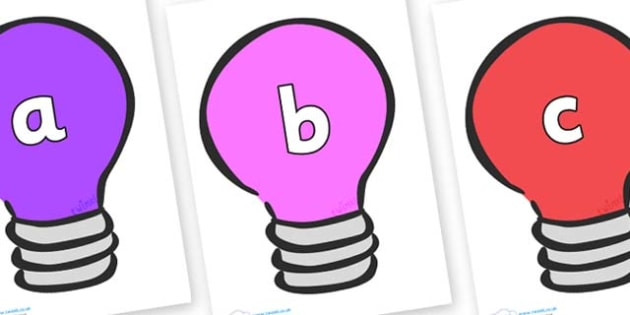 Phase 2 Phonemes on Lightbulbs (Multicolour) - Phonemes, phoneme, Phase 2, Phase two, Foundation, Literacy, Letters and Sounds, DfES, display