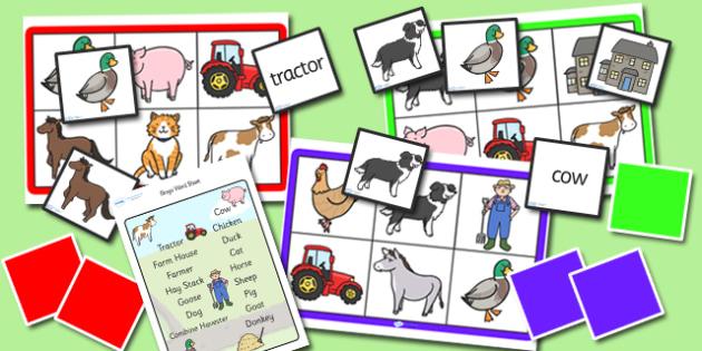 Farm Bingo and Lotto Pack - farm, bingo, lotto, bingo and lotto pack, farm bingo, farm lotto, games, activites, bingo and lotto, pack, farm pack, game pack