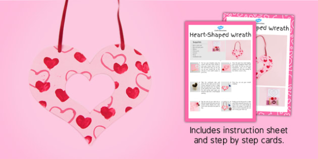 Heart Shaped Wreath Craft Instructions - craft, instructions