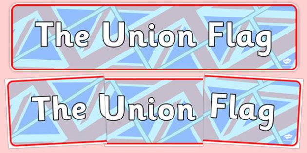 The Union Flag Display Banner - cfe, union flag, display banner, display, banner